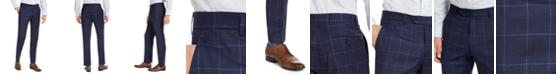 Tommy Hilfiger Men's Classic-Fit TH Flex Stretch Navy Blue Windowpane Suit Pants