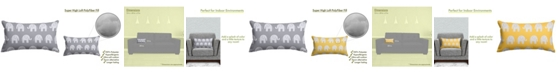 """Majestic Home Goods Ellie Decorative Soft Throw Pillow Small 20"""" x 12"""""""