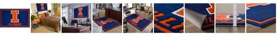 "Luxury Sports Rugs Illinois Colil Blue 1'8"" x 2'6"" Area Rug"