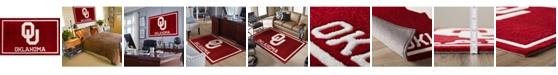 "Luxury Sports Rugs Oklahoma Colok Crimson 5' x 7'6"" Area Rug"