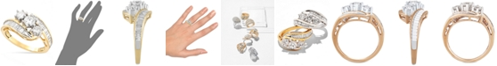 Macy's Diamond Bypass Ring in 14k Gold, White Gold or Rose Gold (1-1/2 ct. t.w.)
