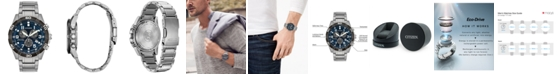 Citizen Eco-Drive Men's Chronograph Brycen Super Titanium Bracelet Watch 43mm