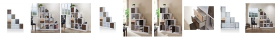 Furniture of America Newark Multi-colored Panels Display Case