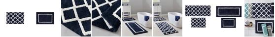 "Madison Park Bittman 21"" x 34"" Reversible High Pile Tufted Microfiber Bath Rug"