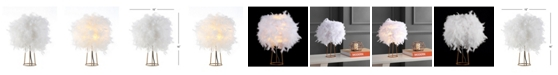"""JONATHAN Y Stork 16"""" Feather LED Table Lamp"""