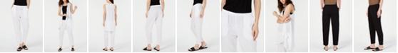 Eileen Fisher Crinkle Tapered Pull-On Pants, Regular & Petite