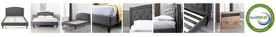 Sleep Trends Casimiro Platform Bed - Full, Quick Ship