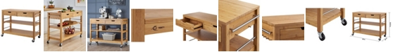 """TRINITY 48"""" Bamboo Kitchen Island with Drawers"""