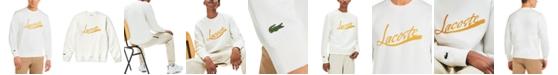 Lacoste Men's Crewneck Sweatshirt with Lacoste Script Logo