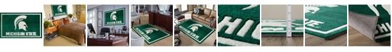 "Luxury Sports Rugs Michigan State Colmc Green 3'2"" x 5'1"" Area Rug"