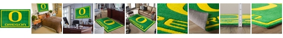 """Luxury Sports Rugs Oregon Color Green 3'2"""" x 5'1"""" Area Rug"""