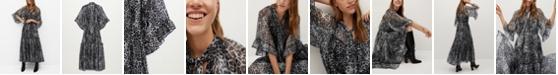 MANGO Women's Ruffled Printed Dress