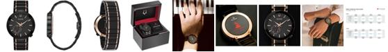 Bulova LIMITED EDITION Men's Special Latin GRAMMY® Edition Dress Black & Rose Gold-Tone Stainless Steel Bracelet Watch 42mm