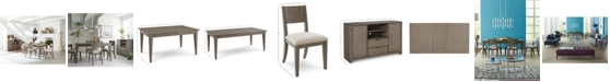 Furniture Tribeca Grey Expandable Dining Room Furniture Collection, Created for Macy's