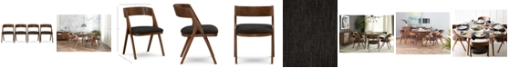 Furniture Oslo Dining Chair, 4-Pc. Set (Set of 4 Chairs), Created for Macy's