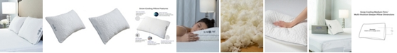 Protect-A-Bed Stomach Sleeper Soft Snow Cooling Pillow With Shredded Memory Foam Fill