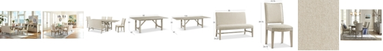Furniture Parker Expandable Dining Furniture, 6-Pc. Set (Table, 4 Side Chairs & Bench), Created for Macy's