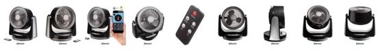 "Ozeri Brezza III Dual Oscillating 10"" High Velocity Desk Fan with Bluetooth"