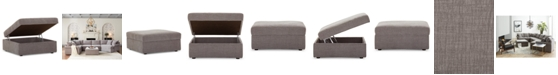 "Furniture Wedport 36"" Fabric Storage Ottoman, Created for Macy's"