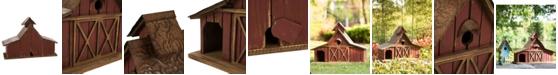 Glitzhome Extra-Large Rustic Wood Barn Birdhouse