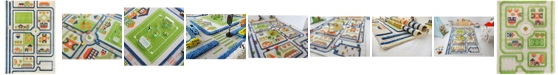"""IVI Traffic 3D Childrens Play Mat & Rug in A Colorful Town Design with Soccer Field, Car Park & Roads - 90""""L x 63""""W"""