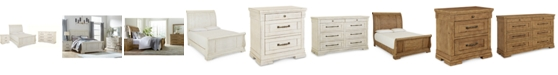 Furniture Trisha Yearwood Homecoming Sleigh Bedroom Collection 3-Pc. Set (King Bed, Nightstand & Dresser)