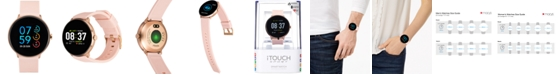 iTouch Sport Blush Silicone Strap Touchscreen Smart Watch 43.2mm