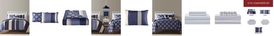Sunham Austin Reversible 10-Pc.Twin Comforter Sets