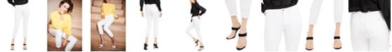 Jen7 by 7 For All Mankind Eyelet-Hem Skinny Ankle Jeans