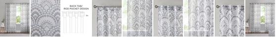 "Madison Park Tabitha 50"" x 84"" Printed Burnout Sheer Curtain Panel"