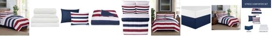 Pem America Modern Stripe 6-Pc. Twin Comforter Set, Created for Macy's