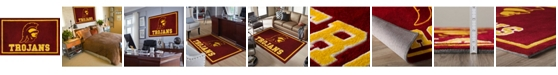 """Luxury Sports Rugs Southern Cali Colso Red 1'8"""" x 2'6"""" Area Rug"""