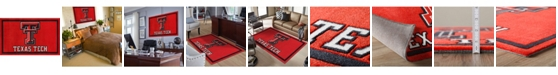 """Luxury Sports Rugs Texas Tech Coltt Red 5' x 7'6"""" Area Rug"""