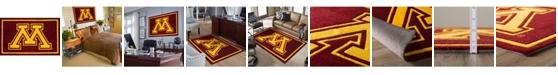 """Luxury Sports Rugs Minnesota Colmn Maroon 1'8"""" x 2'6"""" Area Rug"""