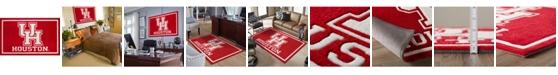 "Luxury Sports Rugs Houston Colho Red 5' x 7'6"" Area Rug"