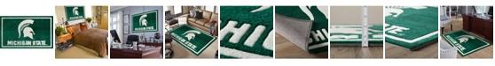 "Luxury Sports Rugs Michigan State Colmc Green 5' x 7'6"" Area Rug"
