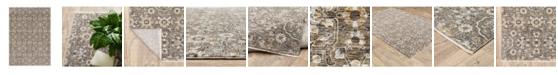 JHB Design Kumar Kum09 Gray and Tan 2' x 3' Area Rug