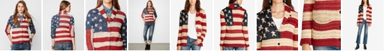 Denim & Supply Ralph Lauren American Flag-Print Shawl Cardigan