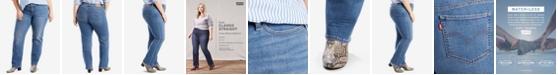 Levi's Trendy Plus Size  414 Classic Straight-Leg Jeans
