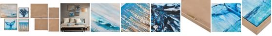 JLA Home Madison Park Seascape 4-Pc. Framed Gel-Coated Canvas Print Set