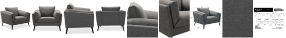 """Furniture CLOSEOUT! Neriah 42"""" Fabric Armchair, Created for Macy's"""