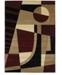 "Asbury Looms Contours Urban Angles 510 20734 69 Burgundy 5'3"" x 7'6"" Area Rug"