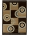 """Asbury Looms Contours Spiral Canvas 510 22451 24 Chocolate 1'10"""" x 2'8"""" Area Rug"""