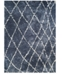 "Couristan Enclave Shag Whistler Blue-Snow 2'2"" x 7'10"" Runner Rug"