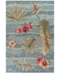"Kas Coral 4166 Seafoam Visions 5' x 7'6"" Area Rug"