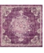 Bridgeport Home Lorem Lor1 Purple 8' x 8' Square Area Rug