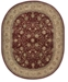 "Nourison CLOSEOUT! Wool & Silk 2000 2107 Burgundy 7'6"" x 9'6"" Oval Rug"