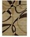 "Asbury Looms Contours La Chic 510 21351 24 Chocolate 1'10"" x 2'8"" Area Rug"