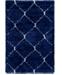 Bridgeport Home Fazil Shag Faz5 Navy Blue 4' x 6' Area Rug