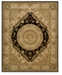 """Nourison Wool and Silk 2000 2223 Black 3'9"""" x 5'9"""" Area Rug"""